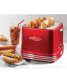 RHDT800RETRORED 4 Hot Dogs & Buns Pop-Up Toaster