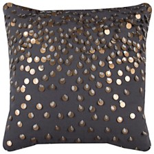 "Rizzy Home 20"" x 20"" Sequinned Poly Filled Pillow"
