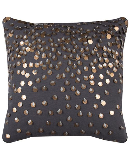 """Rizzy Home 20"""" x 20"""" Sequinned Pillow Collection"""