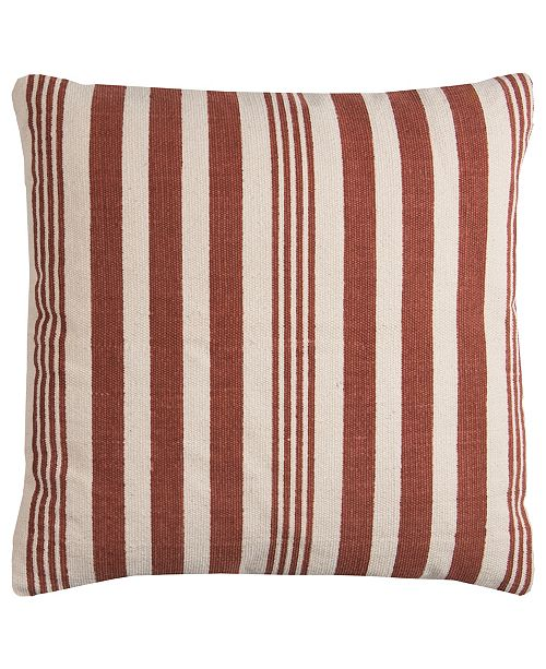 """Rizzy Home 24"""" x 24"""" Striped Poly Filled Pillow"""