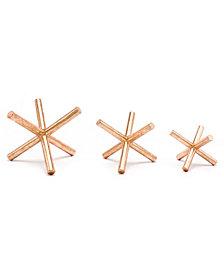 Set Of 3 Asterix Copper