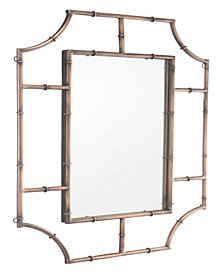 Round Corners Mirror Antique Gold