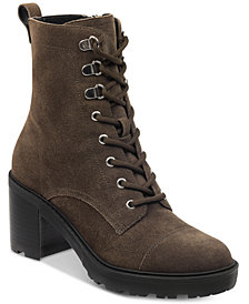 Marc Fisher Lanie Lace-Up Hiker Booties