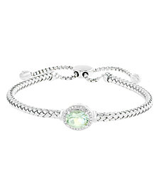 EFFY® Prasiolite (1-1/2 ct. t.w.) and Diamond Accent Bracelet in Sterling Silver
