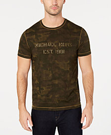 Michael Kors Mens Camo Logo Graphic T-Shirt