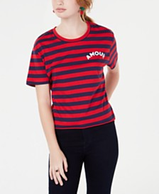 Rebellious One Juniors' Amour Striped T-Shirt
