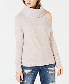 GUESS Cowlneck Cold-Shoulder Sweater