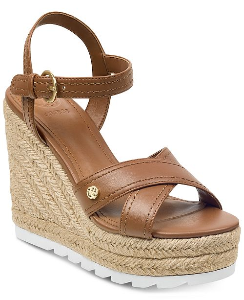 741f27cfd843 GUESS Women s Genisi Espadrille Wedge Sandals   Reviews - Sandals ...