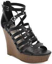 6fba7b3b1267f1 G by GUESS Dezzi Wedge Sandals