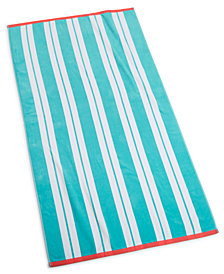 "Martha Stewart Collection Swim Stripe 38"" x 68"" Beach Towel, Created for Macy's"