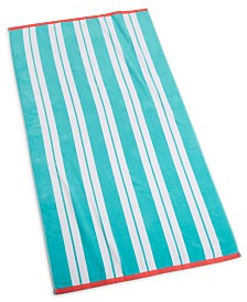 "CLOSEOUT! Martha Stewart Collection Swim Stripe 38"" x 68"" Beach Towel, Created for Macy's"