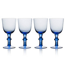 Mikasa Avalon Blue 14oz Goblets, Set of 4