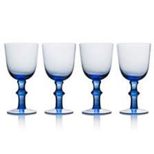 Avalon Blue 14oz Goblets, Set of 4