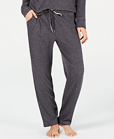 Alfani Ribbed Hacci Sweater-Knit Pajama Pants, Created for Macy's