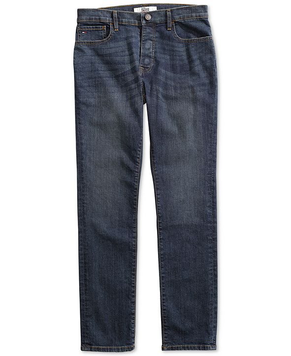 Tommy Hilfiger Men's Straight Fit Drake Jeans with Magnetic Zipper