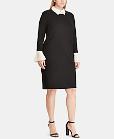 Lauren Ralph Lauren Plus Size Ponté-Knit Shift Dress