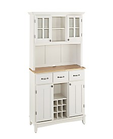 Home Styles Buffet of Buffets with Wood Top and Hutch