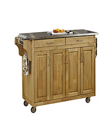 Home Styles Create-a-Cart Natural Finish Stainless Top