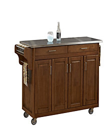 Home Styles Create-a-Cart Cottage Oak Finish Stainless Top