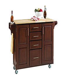 Home Styles Create-a-Cart Cherry Finish with Wood Top