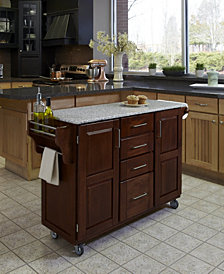 Home Styles Create-a-Cart Cherry Finish Salt and Pepper Granite Top