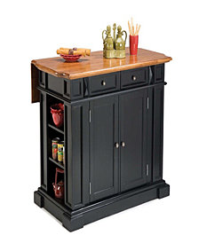 Home Styles Kitchen Island Black and Distressed Oak