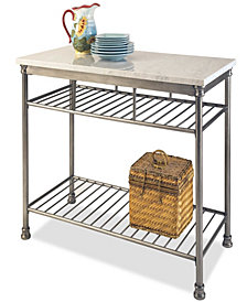 Home Styles The Orleans Kitchen Island with Quartz White Top