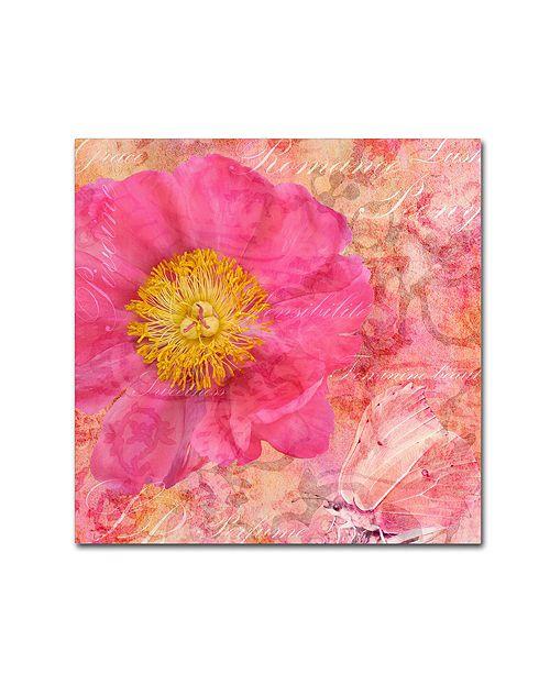 "Trademark Global Cora Niele 'Peony - Feminine Beauty' Canvas Art, 18"" x 18"""