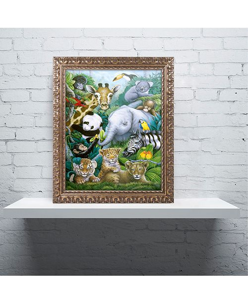 "Trademark Global Jenny Newland 'A Rare Occasion' Ornate Framed Art, 11"" x 14"""