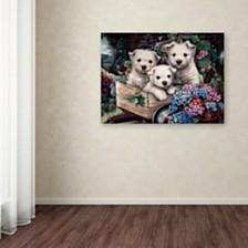 "Jenny Newland 'Lovable Westies' Canvas Art, 18"" x 24"""