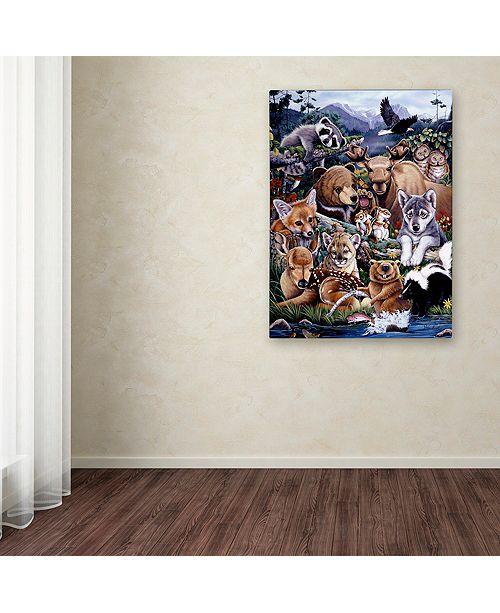 "Trademark Global Jenny Newland 'Forest Friends' Canvas Art, 14"" x 19"""