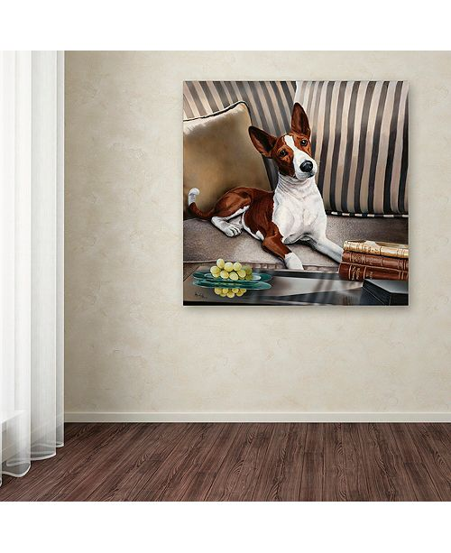 "Trademark Global Jenny Newland 'Gizmo' Canvas Art, 18"" x 18"""