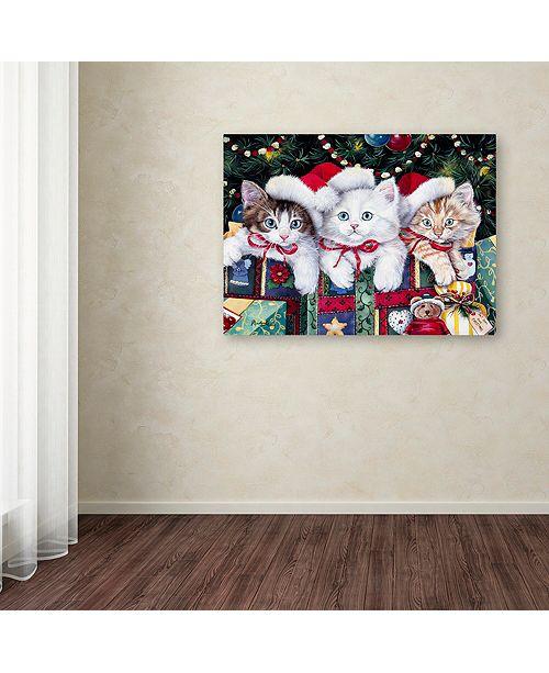 "Trademark Global Jenny Newland 'Meowy Christmas' Canvas Art, 35"" x 47"""