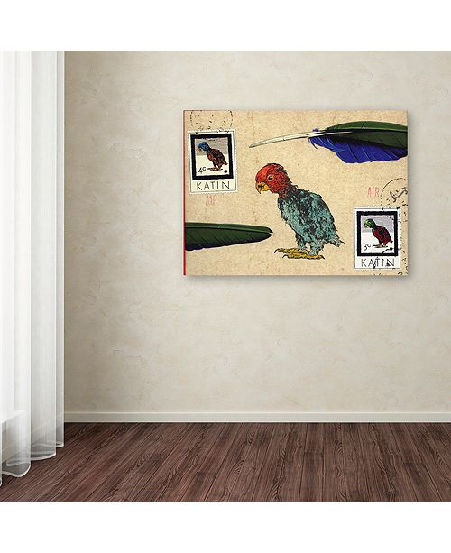 "Trademark Global Nick Bantock 'Katin Parrot' Canvas Art, 14"" x 19"""