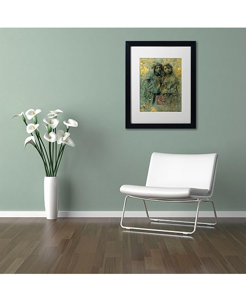 "Trademark Global Nick Bantock 'Mauresque Sisters' Matted Framed Art, 11"" x 14"""