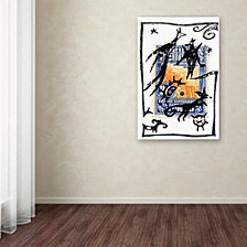 Nick Bantock 'Pelicos Stamp' Canvas Art