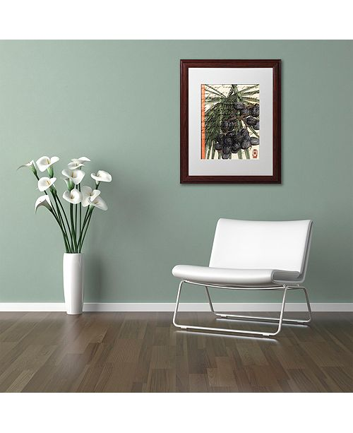 "Trademark Global Nick Bantock 'Plums' Matted Framed Art, 16"" x 20"""