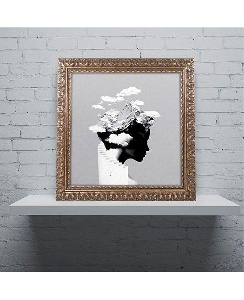 """Trademark Global Robert Farkas 'It's A Cloudy Day' Ornate Framed Art, 11"""" x 11"""""""