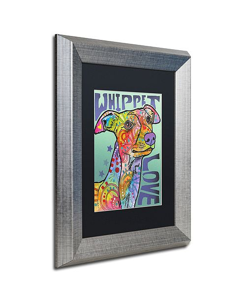 "Trademark Global Dean Russo 'Whippet Love' Matted Framed Art, 11"" x 14"""