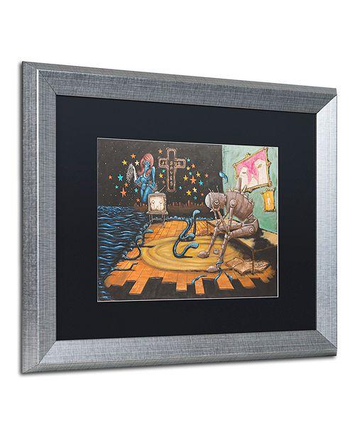 "Trademark Global Craig Snodgrass 'Jesus Saves' Matted Framed Art, 16"" x 20"""