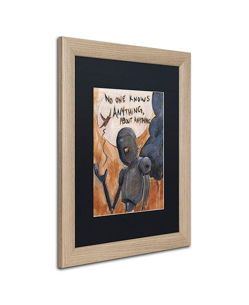 "Trademark Global Craig Snodgrass 'No One Knows' Matted Framed Art, 16"" x 20"""