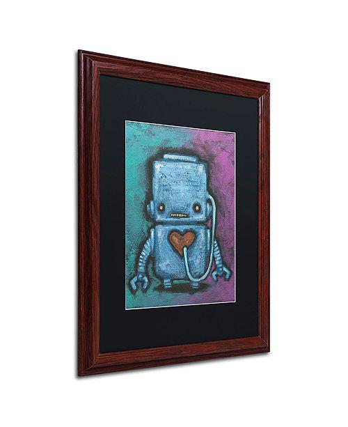 """Trademark Global Craig Snodgrass 'Weebot-Heart' Matted Framed Art, 16"""" x 20"""""""