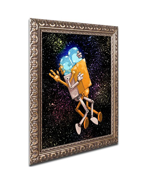 "Trademark Global Craig Snodgrass 'Robo Love' Ornate Framed Art, 11"" x 14"""