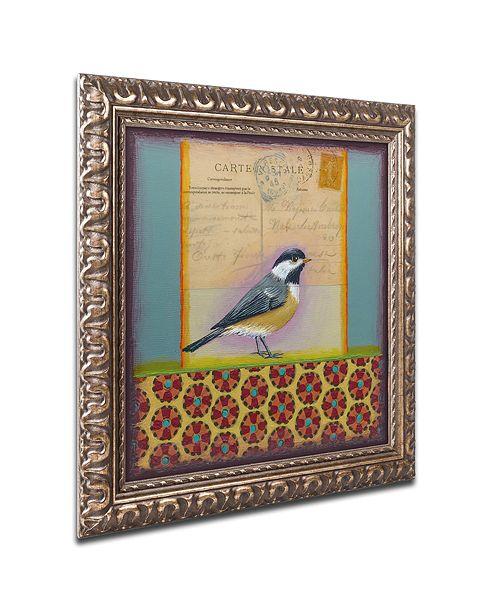 "Trademark Global Rachel Paxton 'Chickadee' Ornate Framed Art, 11"" x 11"""