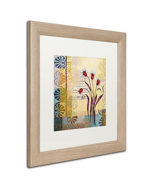 """Trademark Global Rachel Paxton 'Sandy Pond Flowers' Matted Framed Art, 16"""" x 16"""""""