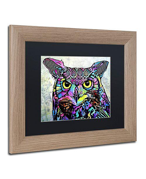 "Trademark Global Dean Russo 'The Owl' Matted Framed Art, 11"" x 14"""