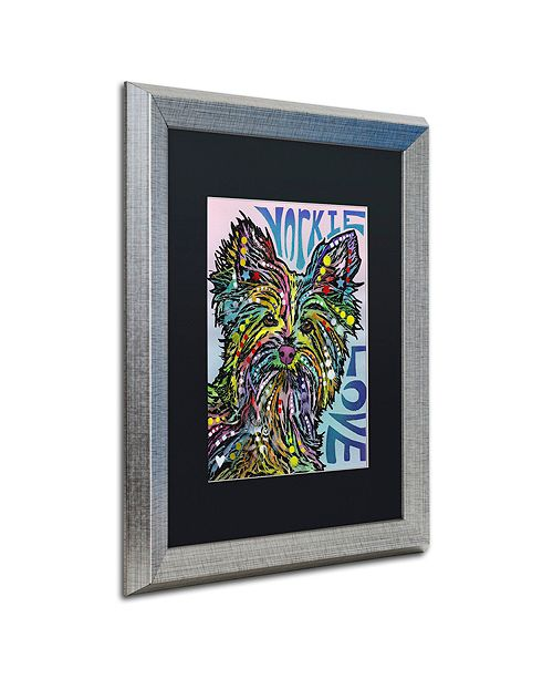 "Trademark Global Dean Russo 'Yorkie Luv' Matted Framed Art, 16"" x 20"""