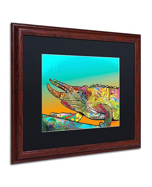 "Trademark Global Dean Russo 'Chameleon' Matted Framed Art, 16"" x 20"""