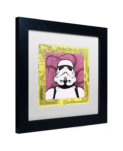 "Trademark Global Dean Russo 'Stormtrooper' Matted Framed Art, 11"" x 11"""