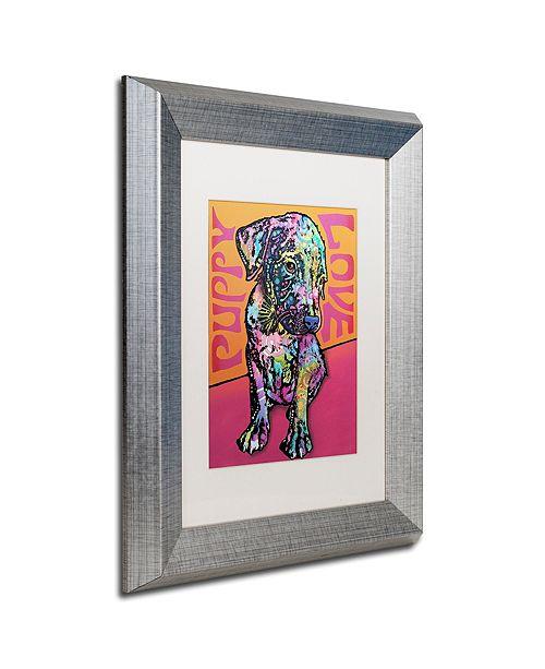 """Trademark Global Dean Russo 'Puppy Love' Matted Framed Art, 11"""" x 14"""""""